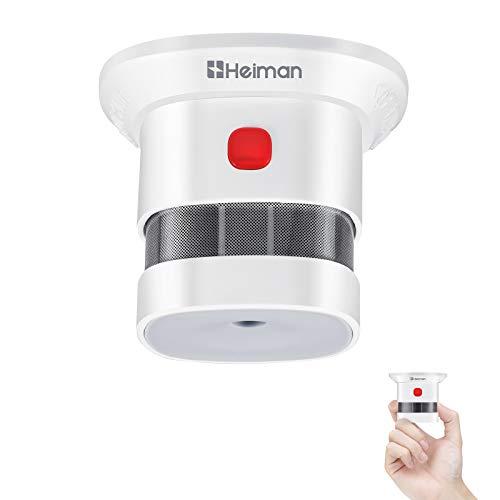 Mini Detector de Alarma de Humo HEIMAN, Batería de por Vida con batería de 10 años, Premio Reddot, Certificado CE, Detector de Incendios fotoeléctrico Independiente para el hogar (1)