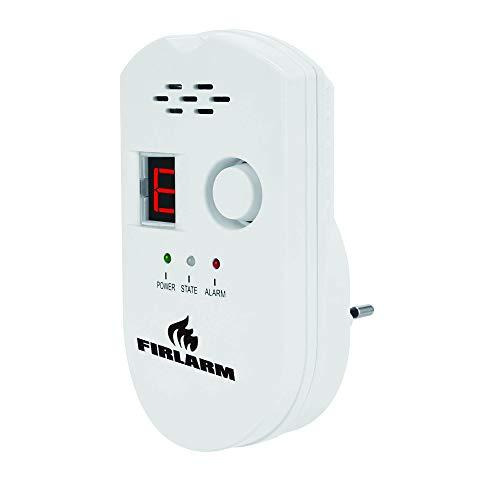 Firlarm - Detector de Fugas de Gas, Alarma de Gas LPG/Gas Natural/Ciudad, Monitor de Gas metano propano butano