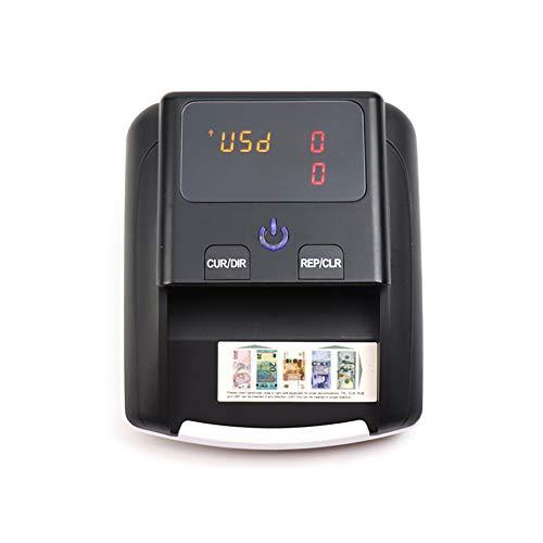 Iriisy Detector Billetes Falsos, Detector automático de billetes falsos, Portátil de Billetes de Banco Detección UV/Microondas/Infrarrojo Moneda Falsa Dólar de los Estados Unidos Euro