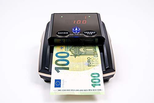 HILTON EUROPEO   HE-320B SD Detector Billetes Falsos portátil   8 SISTEMAS DE DETECCIÓN 100% TESTADO Banco Central Europeo   Actualizado a todos los billetes del sistema EURO (Sin Batería)