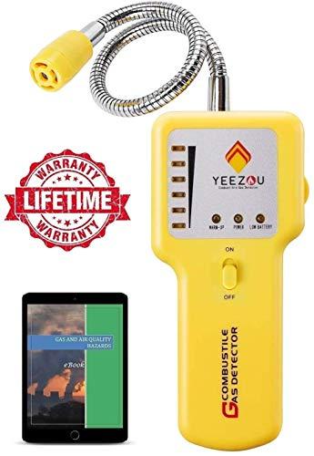 Detector de Gas Natural, Detector de Fugas de Gas Propano, Detector de Gas Butano, Sensor Portátil de Gas Explosivo, Probador de Gas Metano, GLP, GNL; Sensor de Cuello Flexible