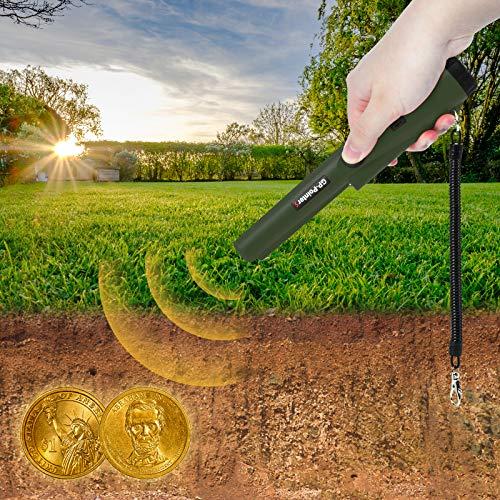 KATELUO Detectores de Metales Pinpointer, Detector de Metales Portátil, Detector de Metales Impermeable, Detector Pinpointer para Búsqueda del Tesoro, Oro, Plata, Monedas (Verde)